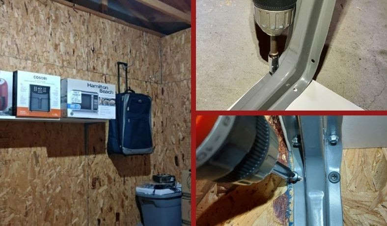 How to put up garage shelves example image