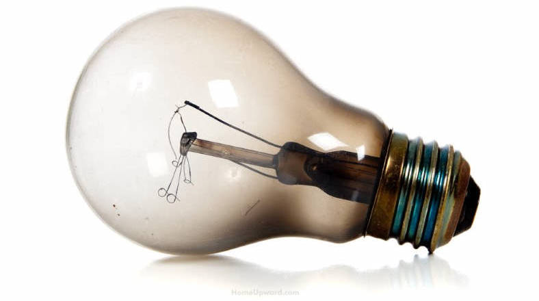 Image of burnt out light bulb