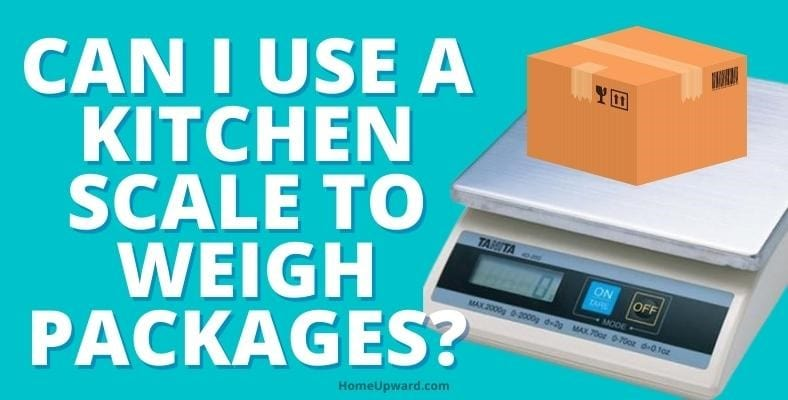can i use a kitchen scale to weigh packages