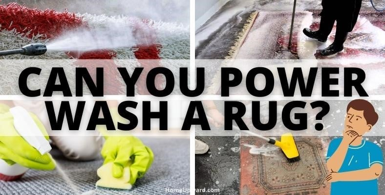 can you power wash a rug