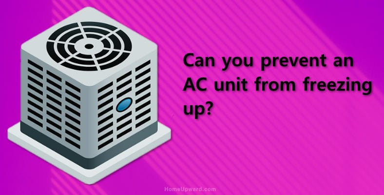 Can you prevent an AC unit from freezing up image