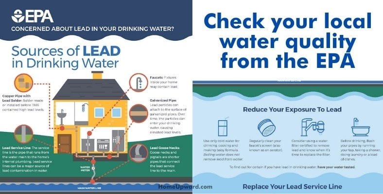 check your local water quality from the EPA