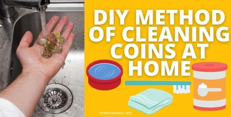 diy method of cleaning coins at home