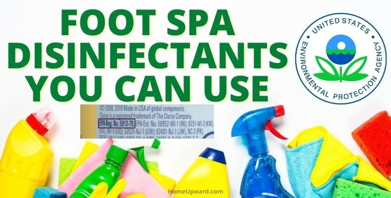 foot spa disinfectants you can use