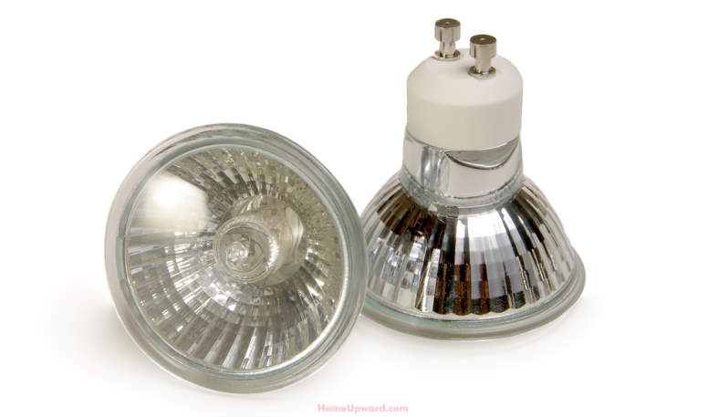 Example of halogen bulbs with 2 prongs