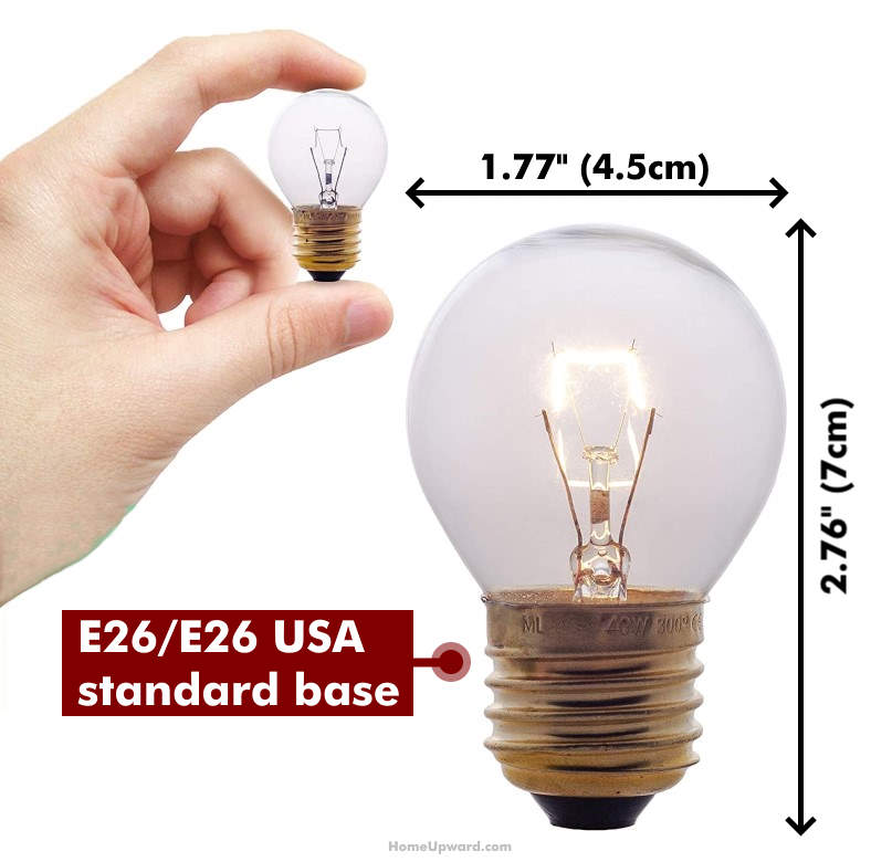 how big are oven light bulbs example bulb with measurements