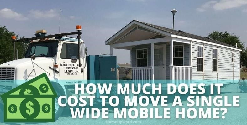 how much does it cost to move a single wide mobile home