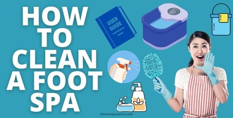how to clean a foot spa