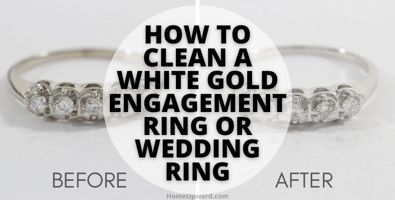 how to clean a white gold engagement ring or wedding ring