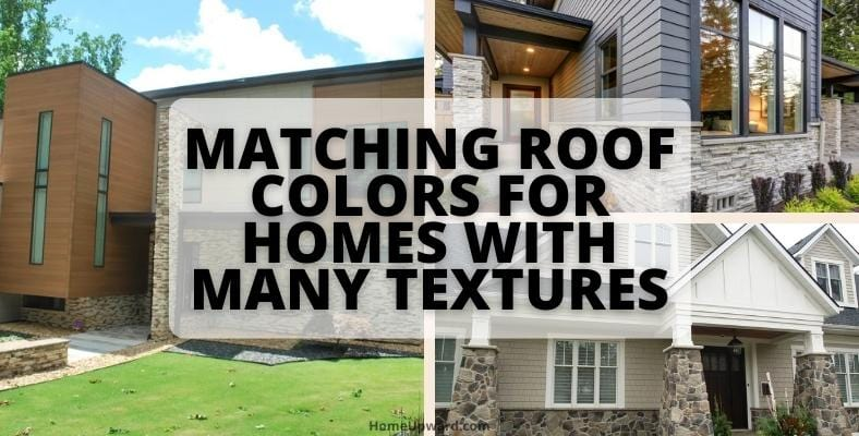matching roof colors for homes with many textures