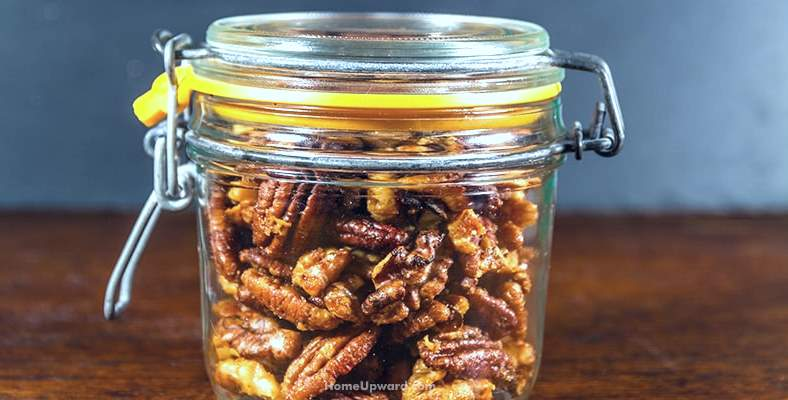 example of pecans stored in a container
