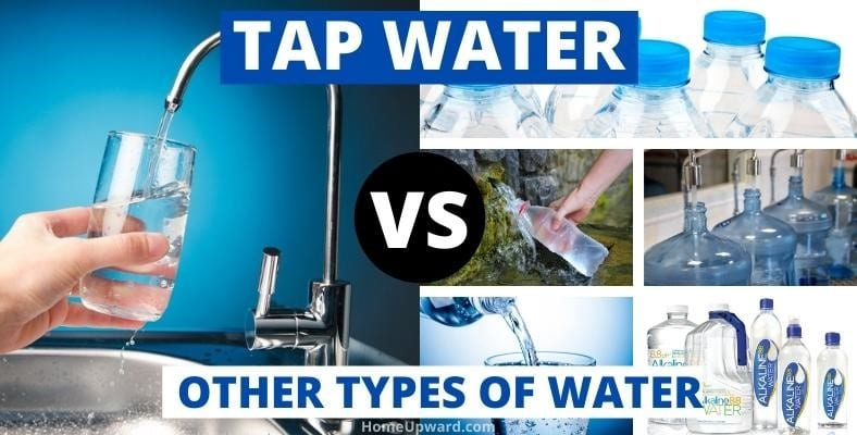 tap water vs other types of water