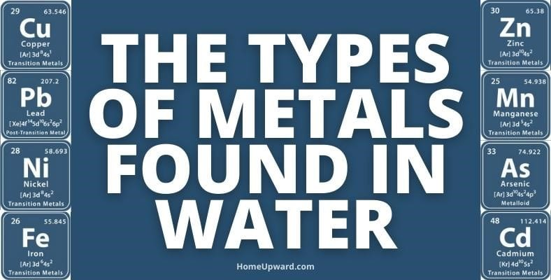 the types of metals found in water