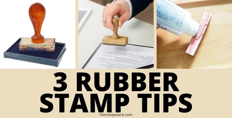 three rubber stamp tips