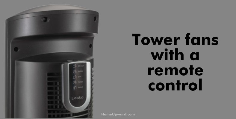 tower fan with a remote control