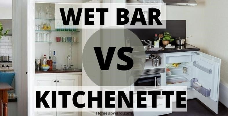 wet bar vs kitchenette