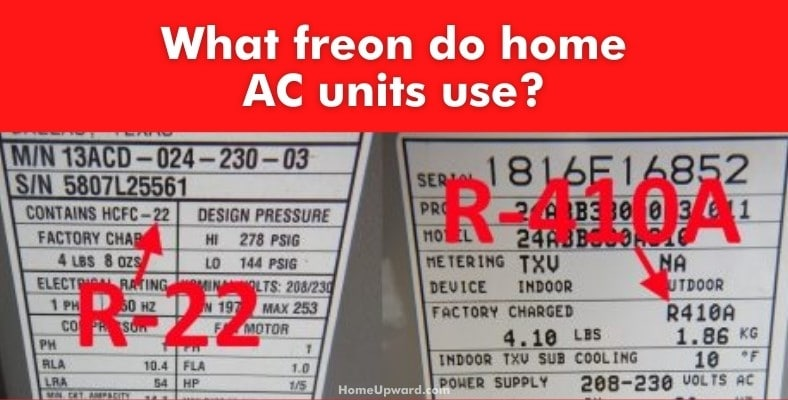 what freon do home ac units use