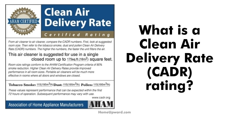 what is a clean air delivery rate ratings