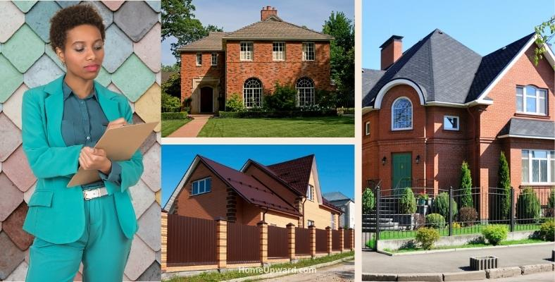 what to consider when choosing shingle colors for a red brick house