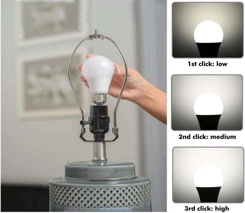 Three way light bulb and lamp how it works example