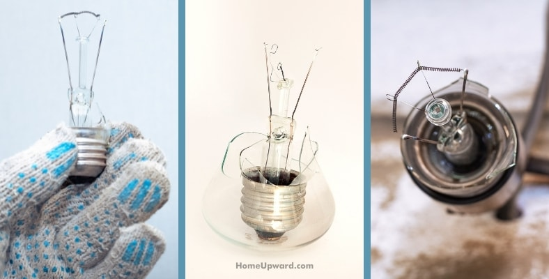what happens if a light bulb explodes