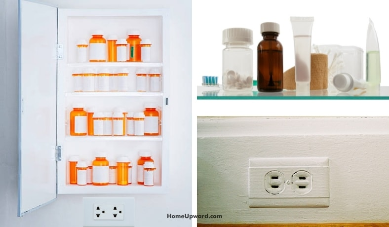 can a medicine cabinet be hung over an unused electrical outlet featured image