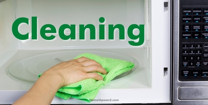 cleaning a microwave