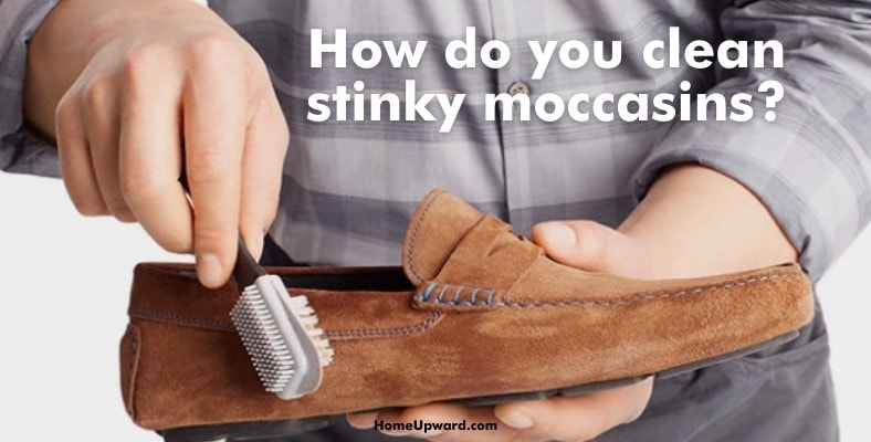 how do you clean stinky moccasins