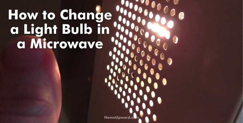 how to change a light bulb in a microwave