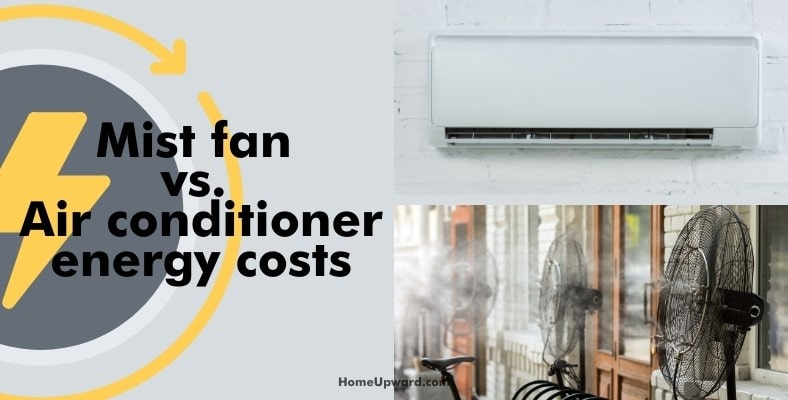 mist fan vs. air conditioner energy costs