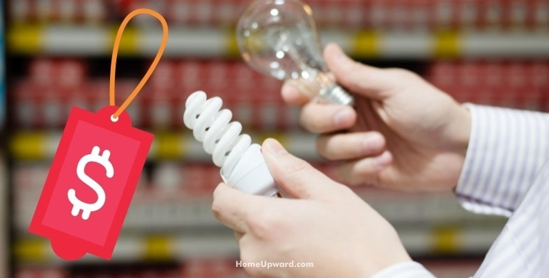 price differences between cfl and led bulbs