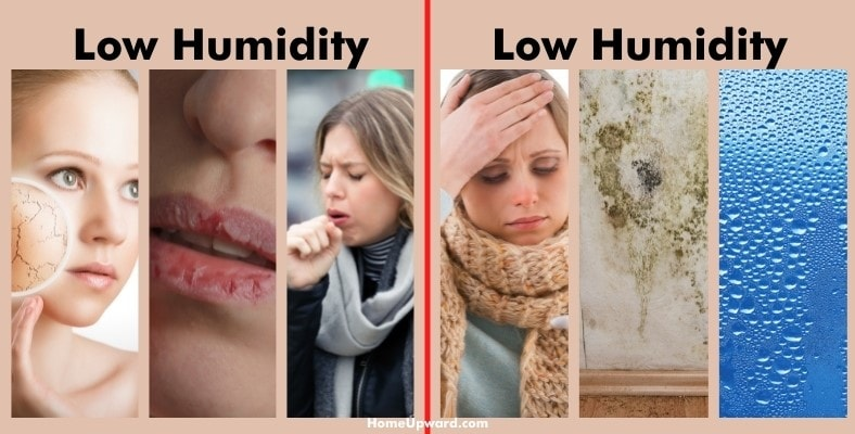 what are the symptoms of high or low humidity