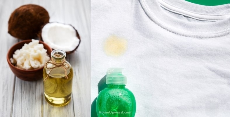 why does coconut oil stain clothes