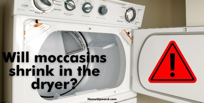will moccasins shrink in the dryer