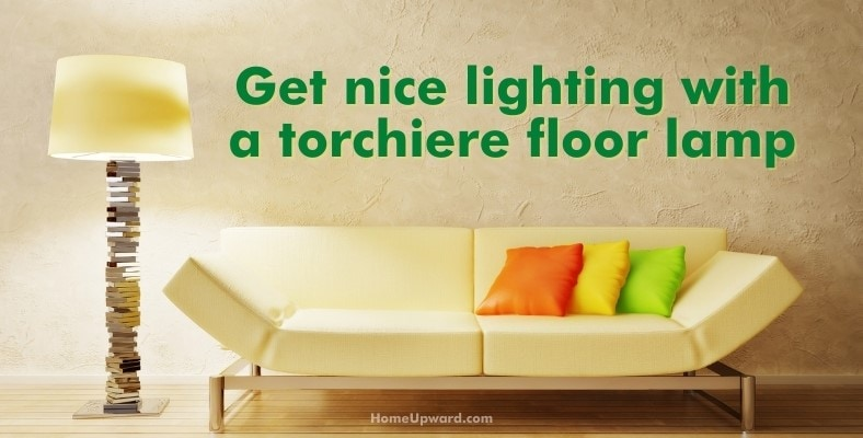 get nice lighting with a torchiere floor lamp