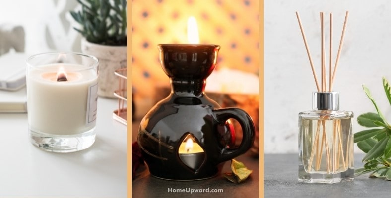 how is a fragrance lamp different from a candle or reed diffuser