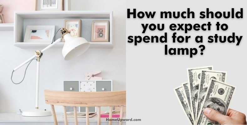 how much should you expect to spend for a study lamp