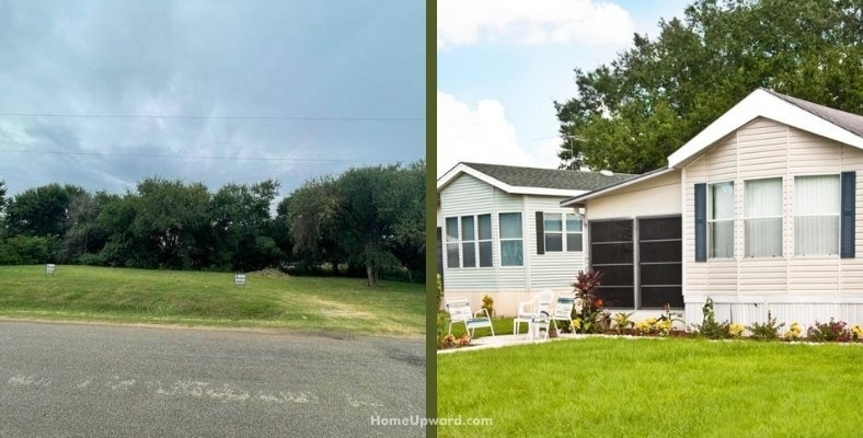 is it cheaper to buy land and a manufactured home