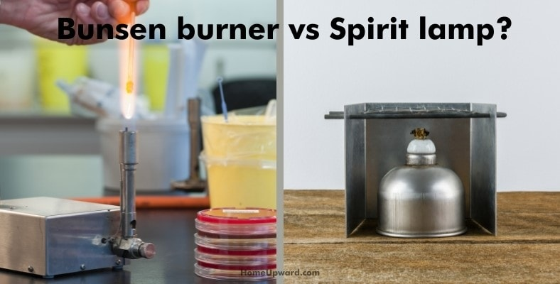 what is the difference between a bunsen burner and a spirit lamp