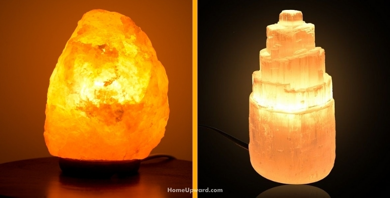 what is the difference between himalayan salt lamps and selenite lamps