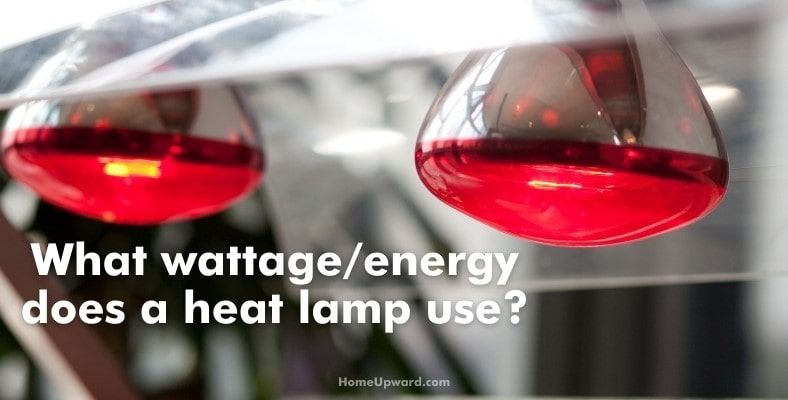 what wattage/energy does a heat lamp use