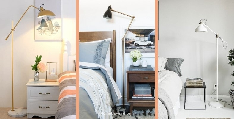 what's the right height for a bedroom floor lamp