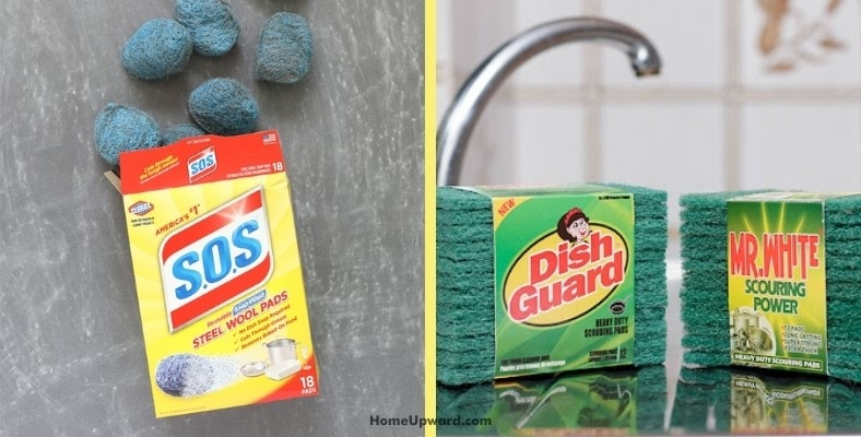 will sos or scouring pads scratch copper