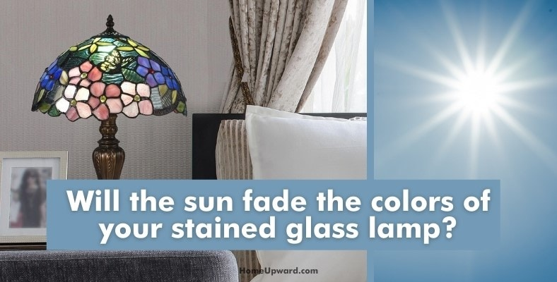 will the sun fade the colors of your stained glass lamp
